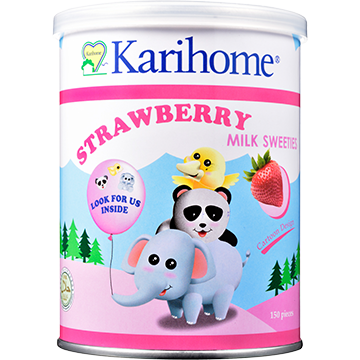 Karihome Milk Sweeties Strawberry flavour